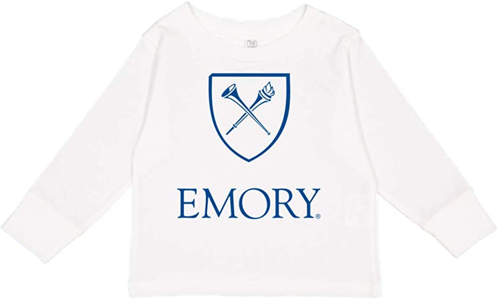 Official NCAA Emory Eagles RYLEMU06 Toddler Long-Sleeve T-Shirt