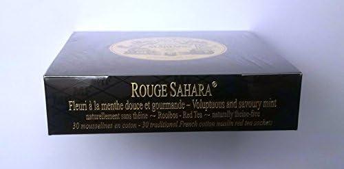 MARIAGE FRERES (マリアージュフレール) ROUGE SAHARA - 30伝統的なフランスモスリン茶小袋の箱 - 並行輸入品