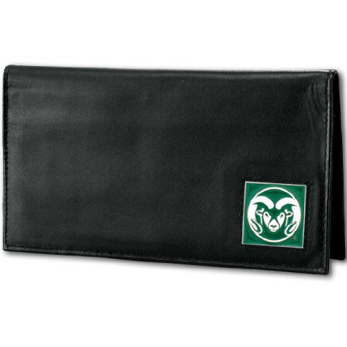 NCAA Colorado State Rams Deluxe Leather Checkbook Cover by Siskiyou