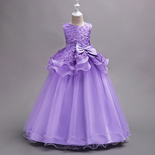 Amazon.com: FEESHOW 3D Fower Girls Wedding Bridesmaid Party Pageant Dress Princess Ball Dance Prom Long Gowns: Clothing
