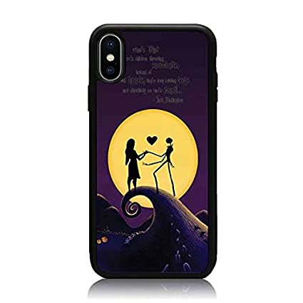 Iphone Xs Max Case Nightmare Before Christmas Lover Series Print Soft Tpu Hard Back Shock Absorption Scratch Proof Slim Protective Case Cover For