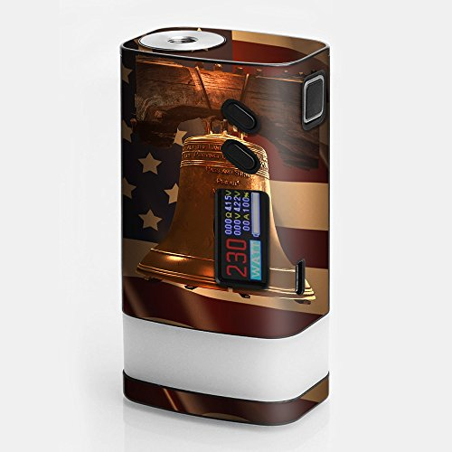 Skin Decal Vinyl Wrap for Sigelei Fuchai Glo 230W tc Vape stickers skins cover/ Liberty Bell and (Watt Bell Led)