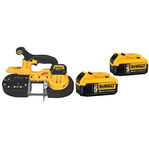 DEWALT DCS371B 20V MAX Lithium-Ion Band Saw, Bare-Tool with 20V MAX XR 5.0Ah Lithium Ion Battery, 2-Pack by DEWALT