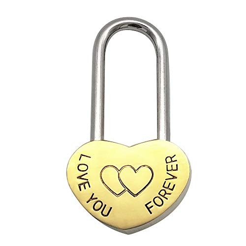 - Heart-Shaped Locks Lovers Wishing Love You Forever Lock Marriage Wedding Padlock Travel Supplies Tokens of Love (Small)