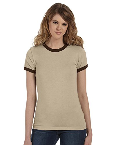 Ringer Contrast - Bella+Canvas Women's Jersey Contrast Ringer T-Shirt_XX-Large_Heather Blue/Navy