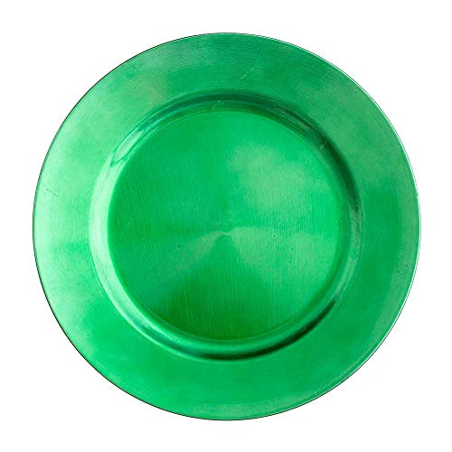 """Richland Round Acrylic Charger Plates 13"""" Forest Green Set of 12"""