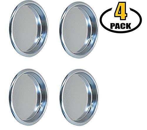 Nuk3y Easy Snap in Closet Door Finger Pull, 2-1/8, 4-Pack (Chrome)
