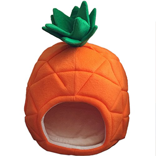Pet Bed Cute Pineapple Pet House Dog Cat Nest Kennel