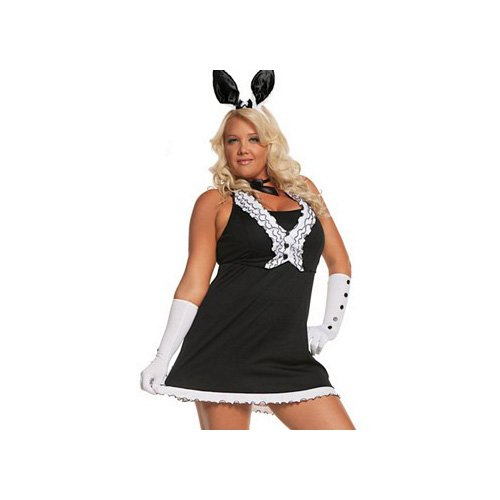 [Black Tie Bunny - Plus Size 1X/2X - Dress Size 18-22] (Plus Size Easter Bunny Costumes)