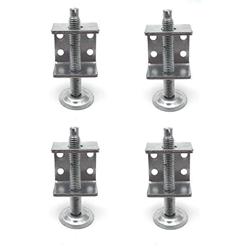 Antrader 4 Pack Table Chair Sofa Cabinet Adjustable Heavy-Duty Furniture Leg Leveler Furniture Accessory 8000 LB Capacity by Antrader
