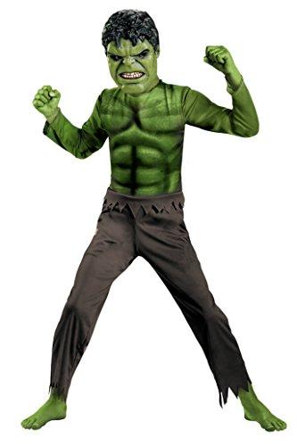 Boys Hulk Avengers Basic Kids Child Fancy Dress Party Halloween Costume, S (4-6) (Child Classic The Hulk Costume)