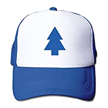 Adults Dipper's Pine Trucker Cap With Adjustable Snapback Strap RoyalBlue
