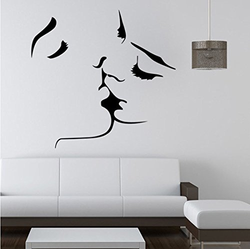 wallpaper art couple kissing simple style size 23x22inch suit for bedroom living room kissing. Black Bedroom Furniture Sets. Home Design Ideas