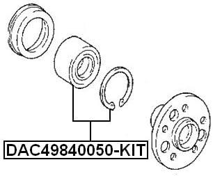 43X82X45 Fits TOYOTA MARK 2 JZX110 Front Wheel Bearing