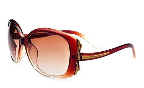Gafas Frame zhenghao Lady Brown Xue De Big Sol De Sol kaffee Gafas Gafas z6UwEEq