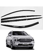 Smoke Black Side Window Visors 6p for 2019 2020 2021 2022 Hyundai Santa Fe