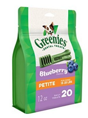 Greenies - Dog Treats 15-25lb, Bursting Blueberry, Petite, 2