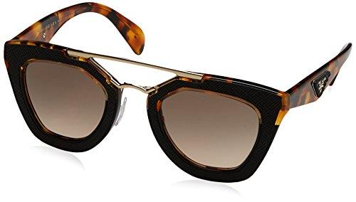 - Prada Women's 0PR 14SS Medium Havana/Black/Brown Gradient Sunglasses