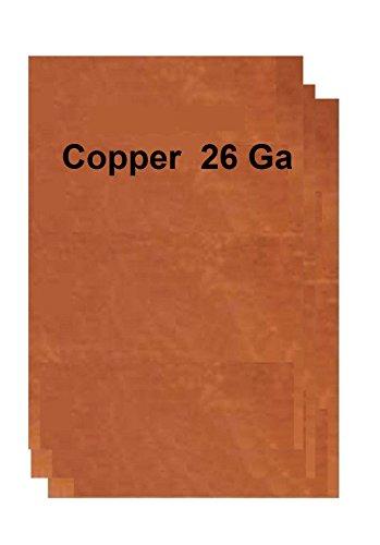 """26 Ga Copper Sheet Metal 8"""" x"""