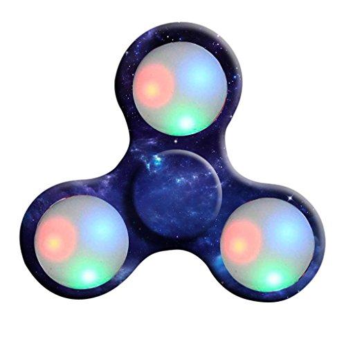 Ouneed ® Spinner Hand Spinner Luz LED Spinner Mano Fidget Juguetes Bola De Dedo Para Autismo ADHD Juguete De Dedo (A) C