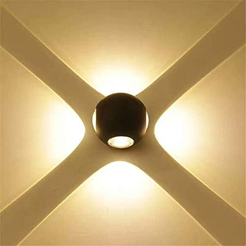 (HighlifeS Modern Wall Sconce Lights 3W LED Room Wall Lights Up Down Aluminium Wall Lighting Lamps for Living Room Bedroom Corridor (warm white))