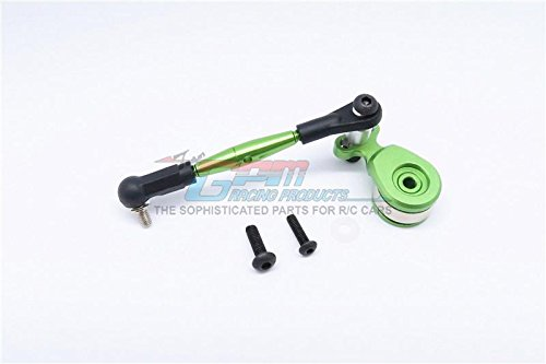 Tamiya GF01 Upgrade Parts Aluminum Hi-Torque Servo Saver 23T With Aluminum Tie Rod - 1 Set Green ()