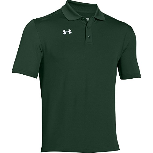 Under Armour Team Armour Men's Golf Polo (Forest Green, X-Large)