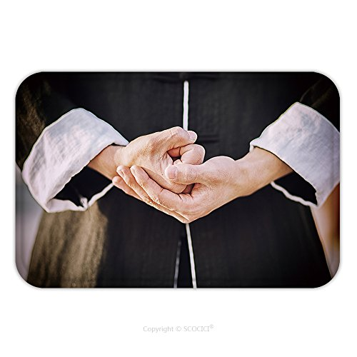 Flannel Microfiber Non-slip Rubber Backing Soft Absorbent Doormat Mat Rug Carpet Tai Chi Chuan Master S Hands 355980293 for Indoor/Outdoor/Bathroom/Kitchen/Workstations