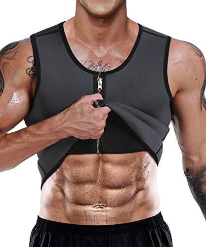 NonEcho Men Sauna Sweat Vest Weight Loss Waist