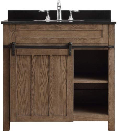 Single Nutmeg Bathroom Vanity - Miseno MV36EMV-CN Emeryville 36
