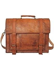 Handolederco Vintage Leather Laptop Bag 16 Messenger Handmade Briefcase Crossbody Shoulder Bag