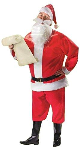 7 Piece Santa Suit Set Christmas Santa Claus Costume Adult One Size Fit Most ()