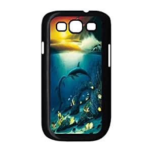 High Quality {YUXUAN-LARA CASE}Sea And Dolphins For Samsung Galaxy S3 STYLE-2