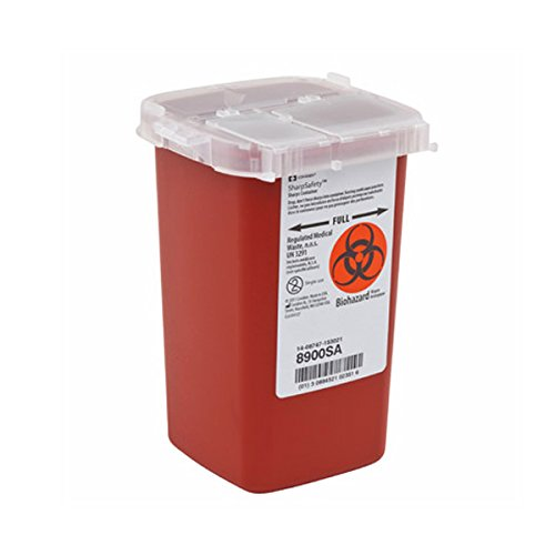Sharps Container Biohazard Needle Disposal - 1 Quart - Pack of 2 ()