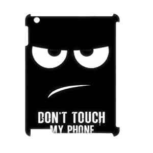 Lycase(TM) Don't touch my phone Customized 3D Cell Phone Case, Don't touch my phone Ipad 2,3,4 Protective 3D Case