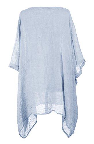 TEXTUREONLINE - Camisas - Básico - para mujer azul claro