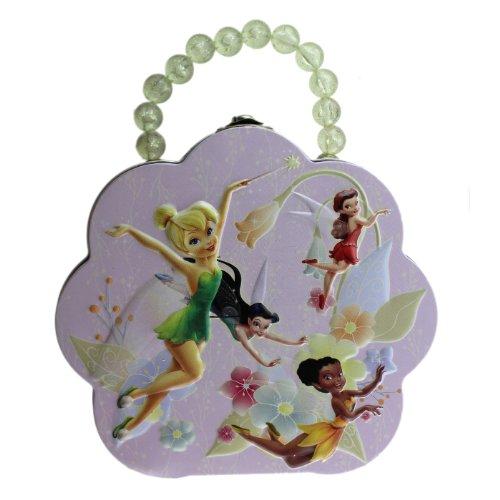 Disney Flower Pearl Handle Fairies Tin Box - Tinkerbell Tin Box