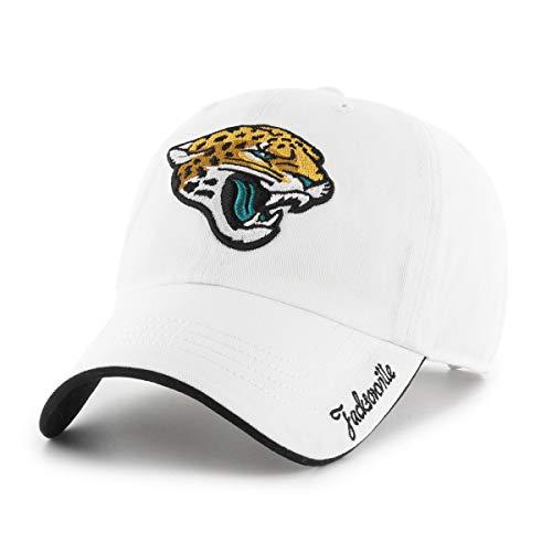 (OTS NFL Jacksonville Jaguars Female Accolade Challenger Adjustable Hat, White, Women's)
