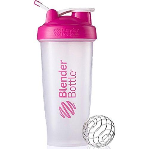 BlenderBottle Classic Loop Top Shaker Bottle, 28-Ounce, Clear/Pink