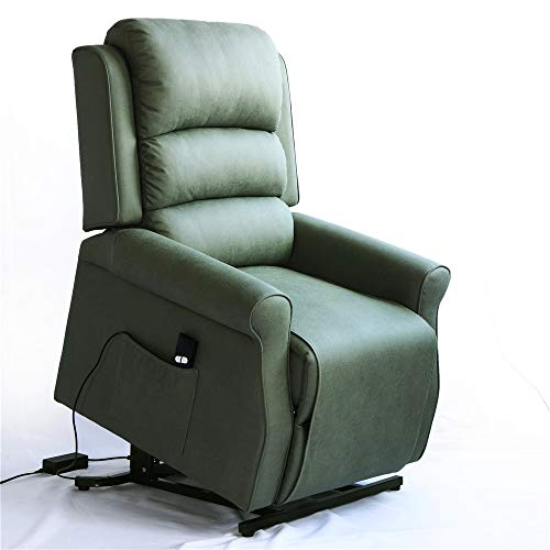 Irene House Modern Transitional Electric Power Lift Recliner Chair with Soft Breathable Fabric (Sage)