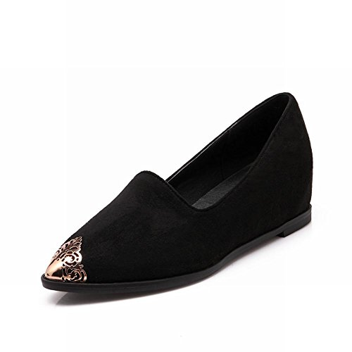 5a466a6a0fe Show Shine Women s Fashion Pointed Toe Hidden Wedge Shoes Loafers Shoes  30%OFF