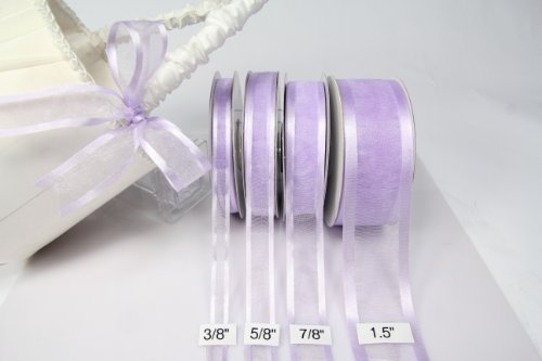 Lavender Organza Ribbon with Satin Edge-25 Yards X 5/8 Inches]()