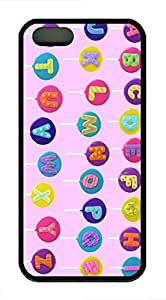 Alphabet Lollipops HAC1014009 TPU Case Cover for iPhone 5 and iPhone 5s Black