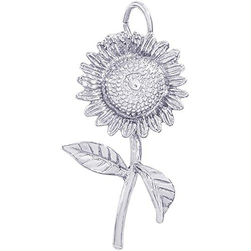 Rembrandt Charms Sunflower Charm in Gold OR Silver (Sterling Silver) ()
