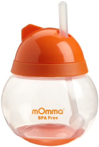 Lansinoh mOmma Straw Cup, Orange (Discontinued by Manufacturer)