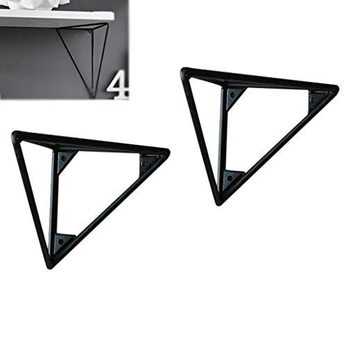 (Brackets DIY Floating Shelf Wall Hanging, Stylish Modern Ledge, Triangular Design Without Deformation, Bedroom/Bathroom/Living Room/Kitchen(2 Pcs).)