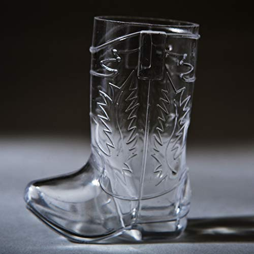 1 0z Shot Glasses Cowboy Boot Is the Perfect Addition to Your Cowboy or Western Themed Party. Let Your Guests Drink in Cowboy Style with a Plastic Boot Glass 12 Shot Glasses 2 1/2 ″ Tall and 1″ Wide]()