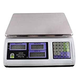 TMS SCALE(REDBOX)ACS-R 60-Pound 30Kg Digital Price Food Meat Produce Computing Weight Scale for Cafeteria Candy Grocery Deli Restaurant Market Farmer