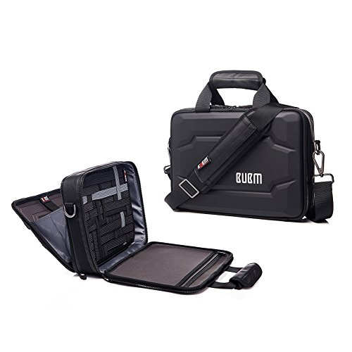 14.4 inch Laptop Bag,EVA Hard Protective Tablet Case shoulder Bag,Messenger Briefcase Travel Organize Case for Electronics Accessories,Black (14.4 inch-double layer) (Notebook Case Eva)