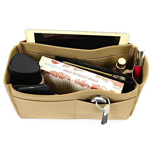 Amazon.com  Singular Style Nubuck Leather Handbag Organizer for Neverfull  Bags  Handmade 72d79cc7ce7d0